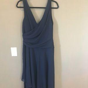 Lauren Ralph Lauren Blue Maxi Dress high Low 12